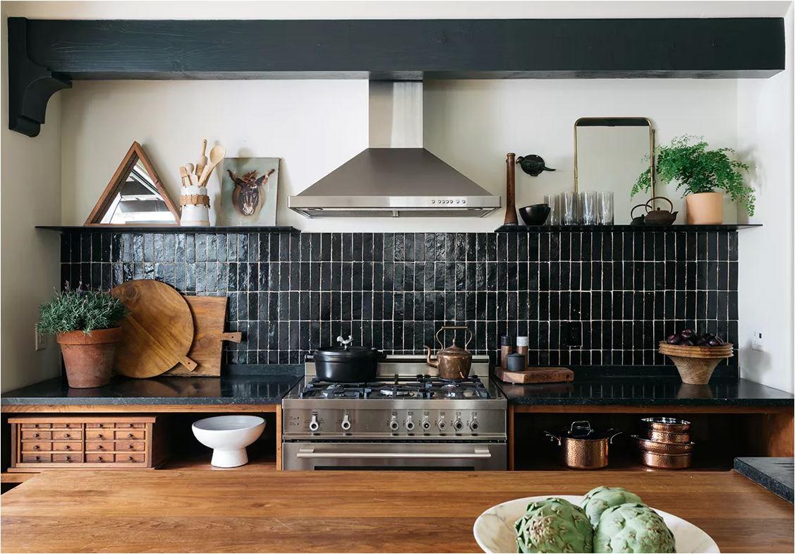 Black Tile Backsplashes Done Right Centsational Style