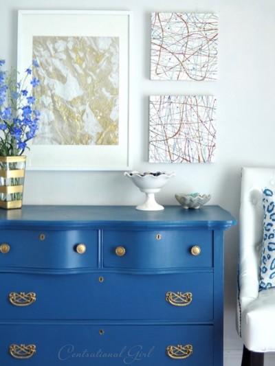 blue bedroom dresser