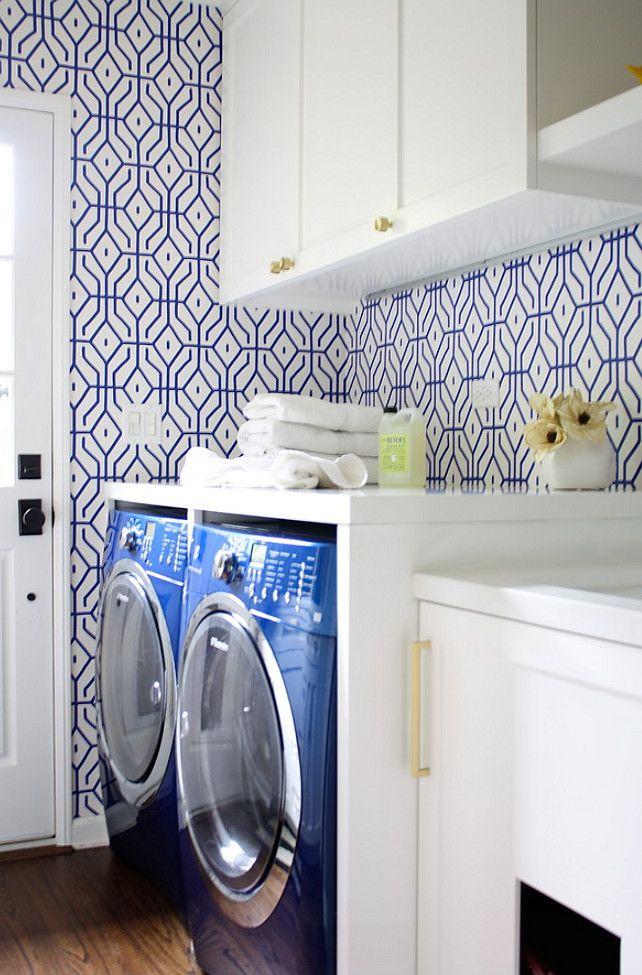 blue white anna spiro wallpaper