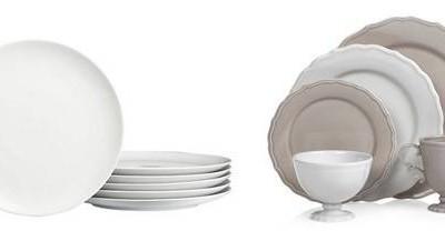 cb z gallerie white plates