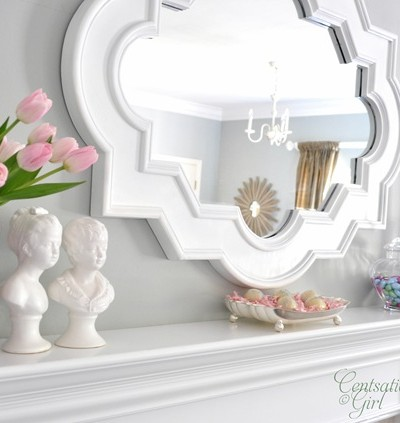 cg easter tulips mantel