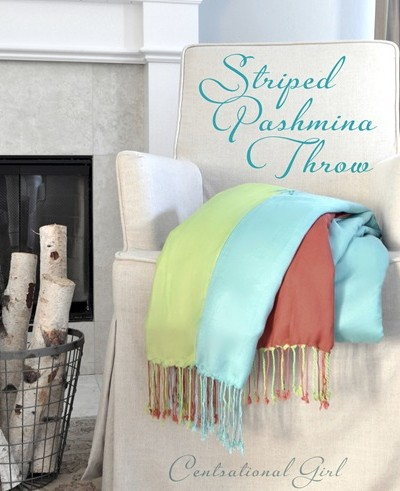 cg pashina striped throw