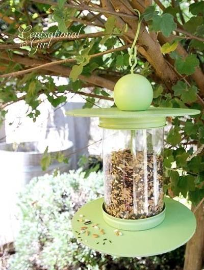 cg recycled bottle birdfeeder