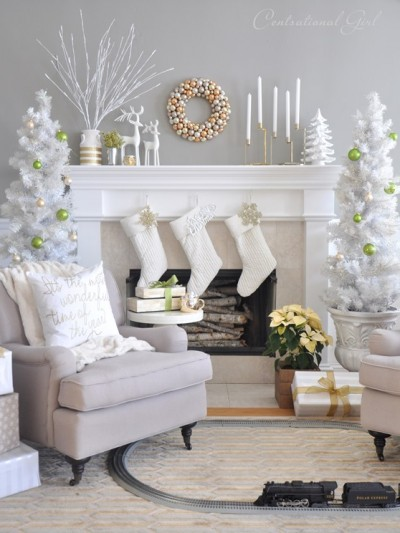 christmas living room centsational girl
