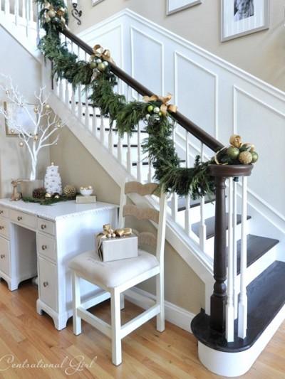 christmas staircase centsational girl