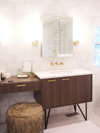 contemporary bathroom makeover
