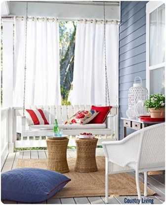 country living porch swing