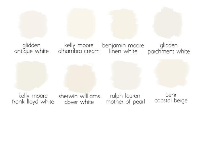 creamy white slider