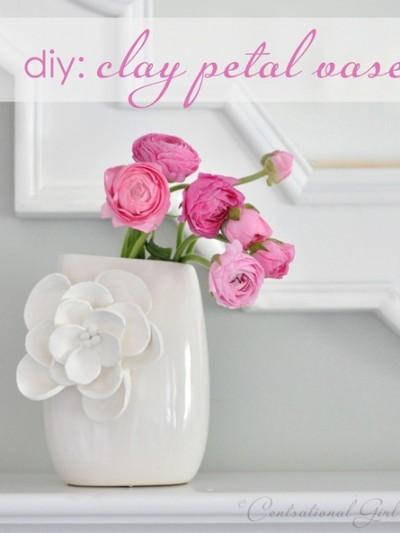 diy clay petal vase cg