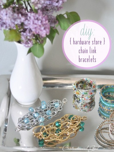 diy hardware store chain link bracelets cg