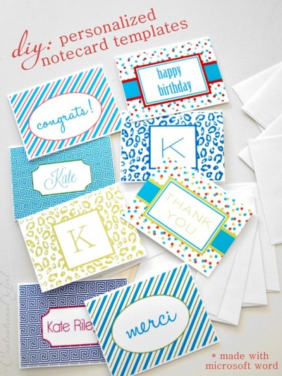 diy personalized notecards with microsoft word
