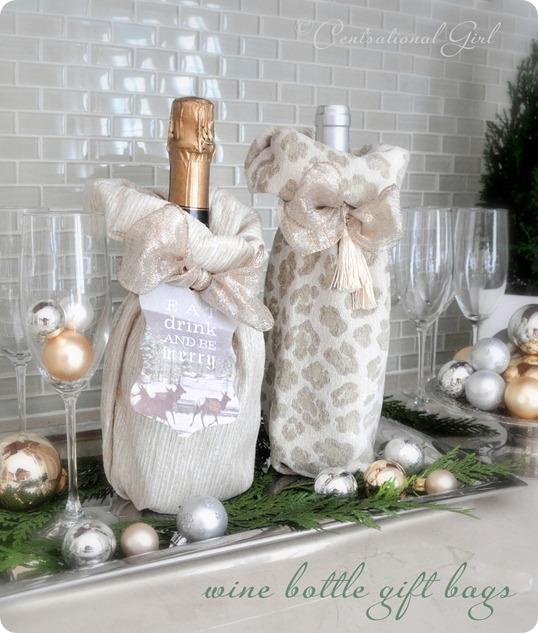 Diy Wine Bottle Gift Bags Centsational Style
