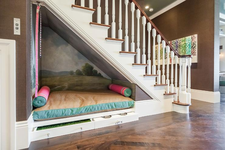 dog bed under stairs
