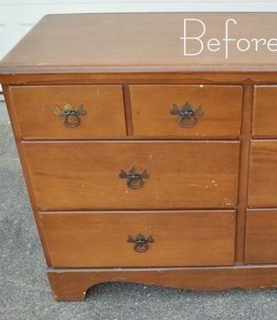 dresser before left