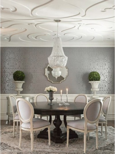 elegant dining room makeover