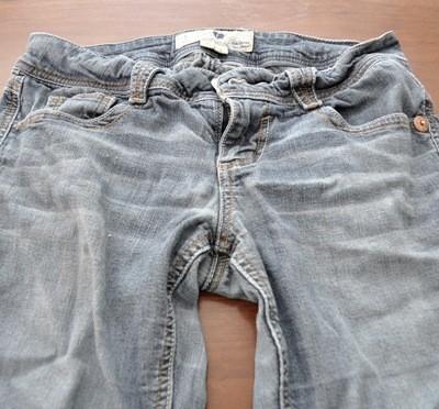 faded capri jeans before
