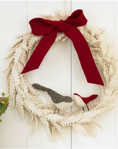 felt wreath viva terra