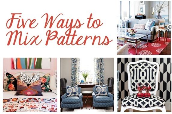 Five Ways To Mix Patterns   Centsational Style