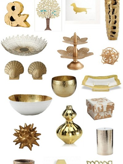 gold accents for the home