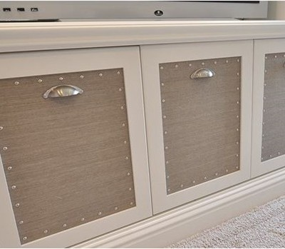 grasscloth panels on furniture