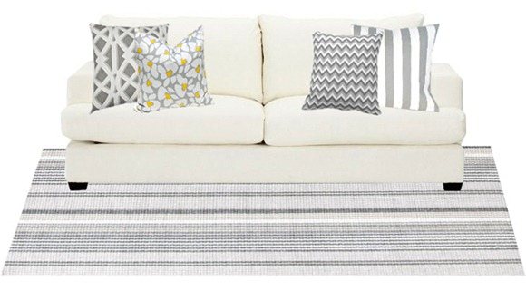 sofa pillow styling: basic tips | centsational style White Sofa with Pillows