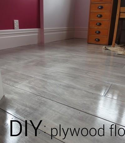 graywash plywood floors