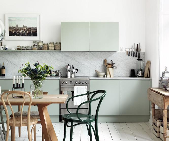 green cabinets slider
