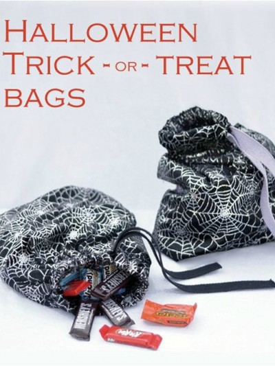 halloween trick or treat bags simple sew
