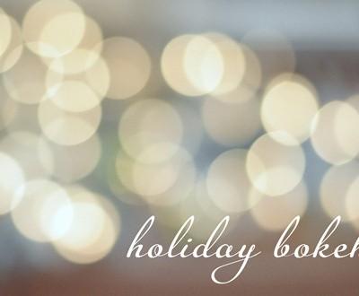 holiday bokeh twinkle lights
