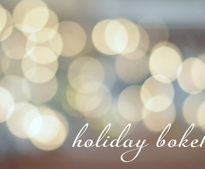 holiday bokeh twinkle lights