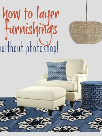 how to digitally layer furnishings without photoshop