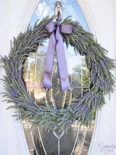 kates lavender front door wreath