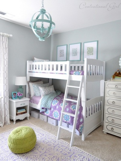 lavender and blue girls room