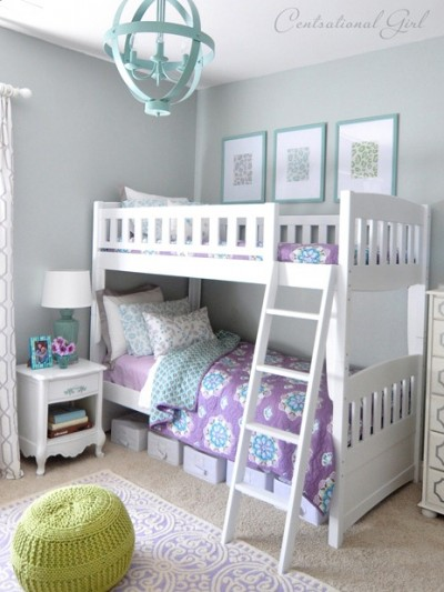 lavender blue girls room