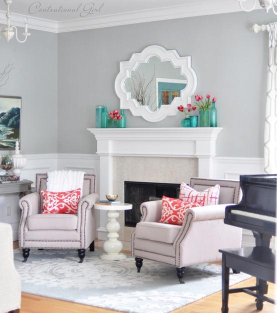 Centsational Style: Tulips + Table Runner Pillows