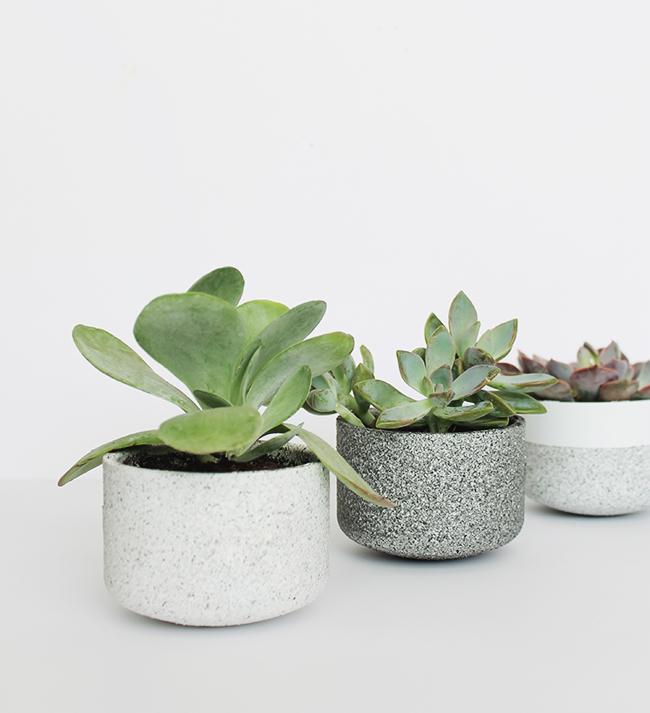 mini granite pots