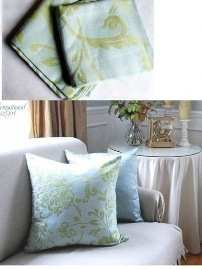 napkin turned pillow