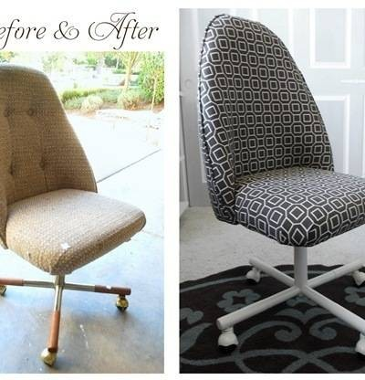 office chair before and after