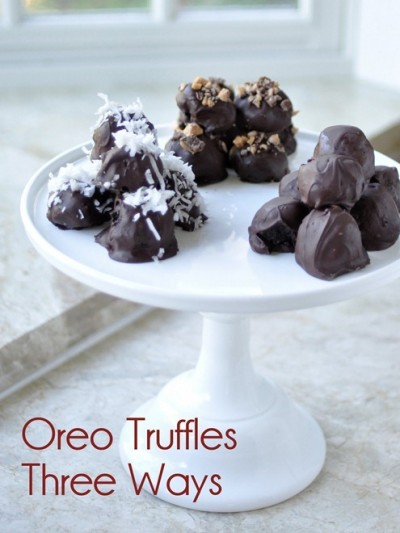 oreo truffles three ways
