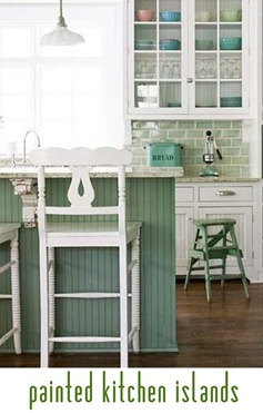 painted kitchen islands