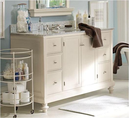Bathroom vanity upgrade centsational style for Console style bathroom vanity