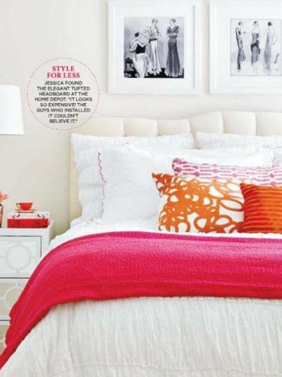 pink and orange bedroom