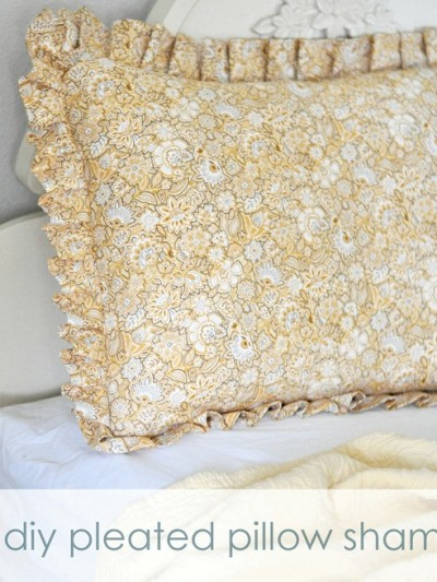 pleated pillow sham labeled
