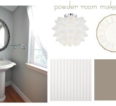 powder room makeover