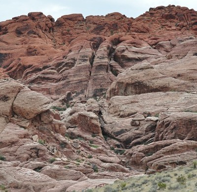 red rock canyon view