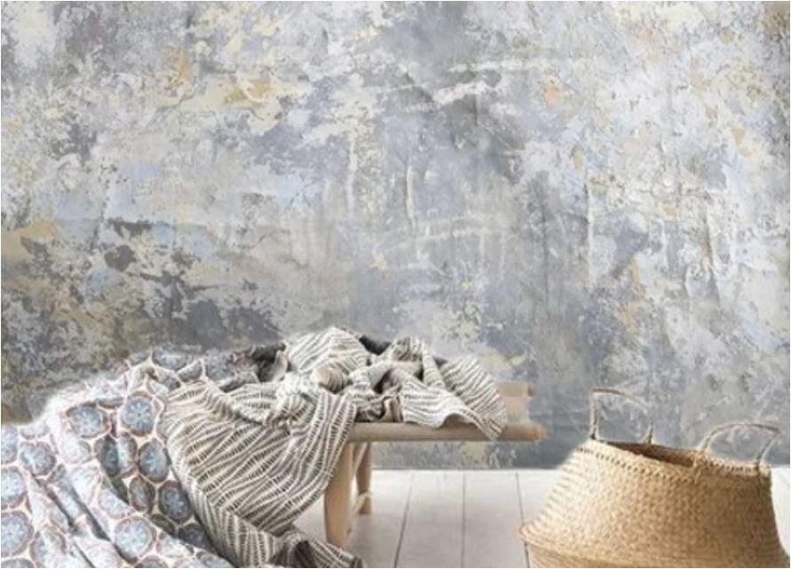 rough textured walls