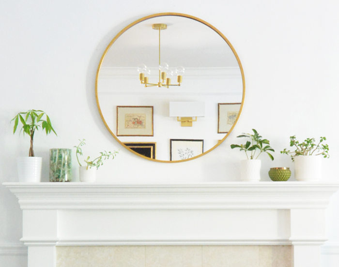 round mantel mirror