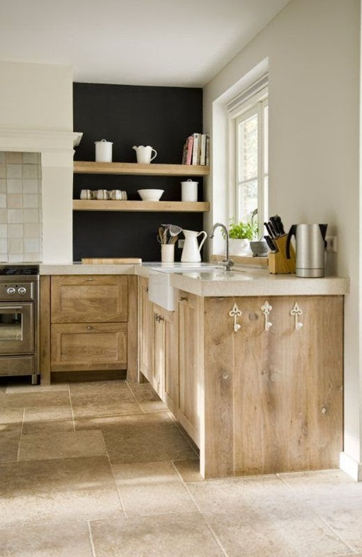 Popular Again: Wood Kitchen Cabinets | Centsational Style