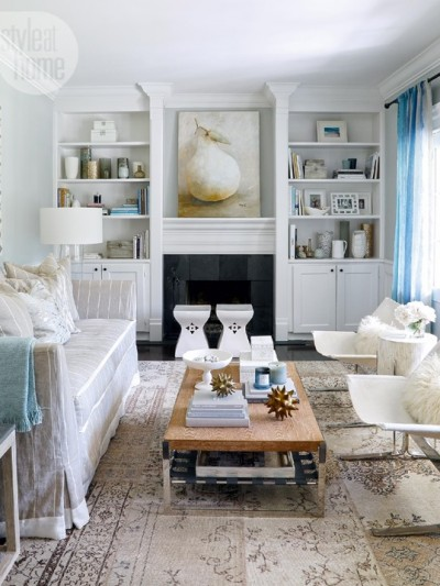 seaside chic living room