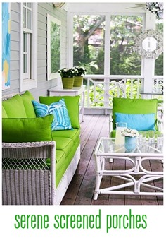 serene screened porches